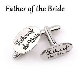 Father of the Bride Bridal Party Cuff Links